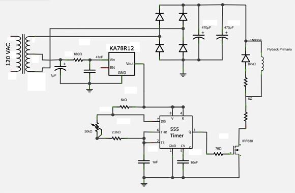 Fuente de alta tensión con partes recicladas Fuente de alta tensión con partes recicladas hv power supply esquematico1