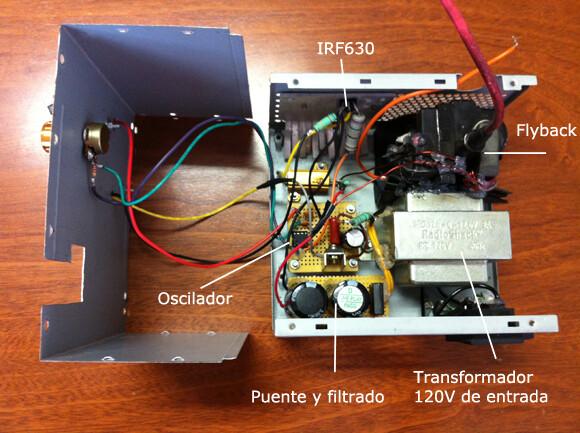 Fuente de alta tensión con partes recicladas Fuente de alta tensión con partes recicladas hv ps4