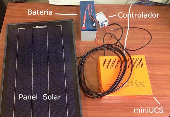 Haciendo funcionar un Elastix miniUCS con energía solar Haciendo funcionar un Elastix miniUCS con energía solar miniucs solar panel