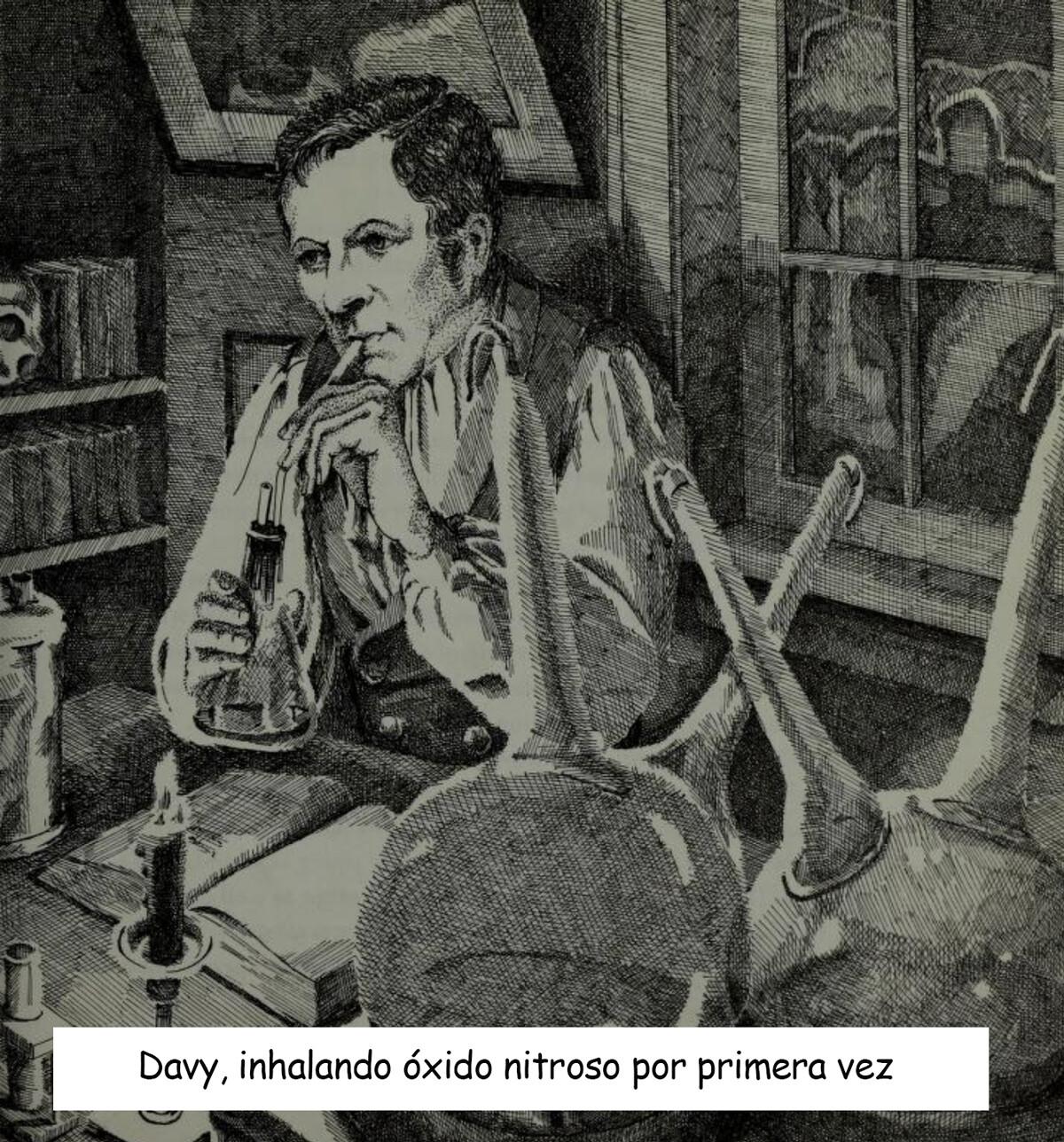 {focus_keyword} Las extrañas fiestas para inhalar anestesia de principios del siglo XIX davy